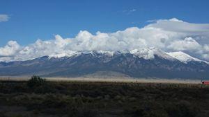 Cloud caped mountain