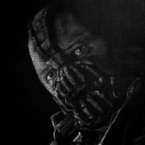 B/W version of Tom Hardy as Bane