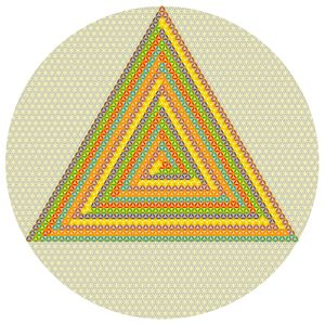 The winding triangle of colours