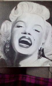 Marilyn Monroe Graphite Drawing