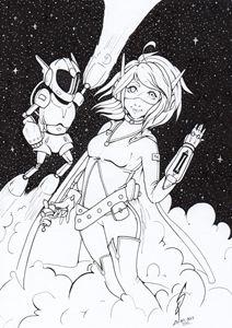 Suzu in the space!