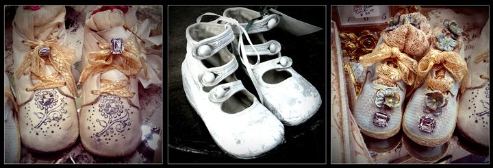 Baby Shoes Triptych - Colleen G. Drew Photography