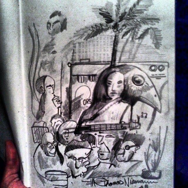 Original The Jam Pencil and paper - ETNART Evan Thomas Niemann