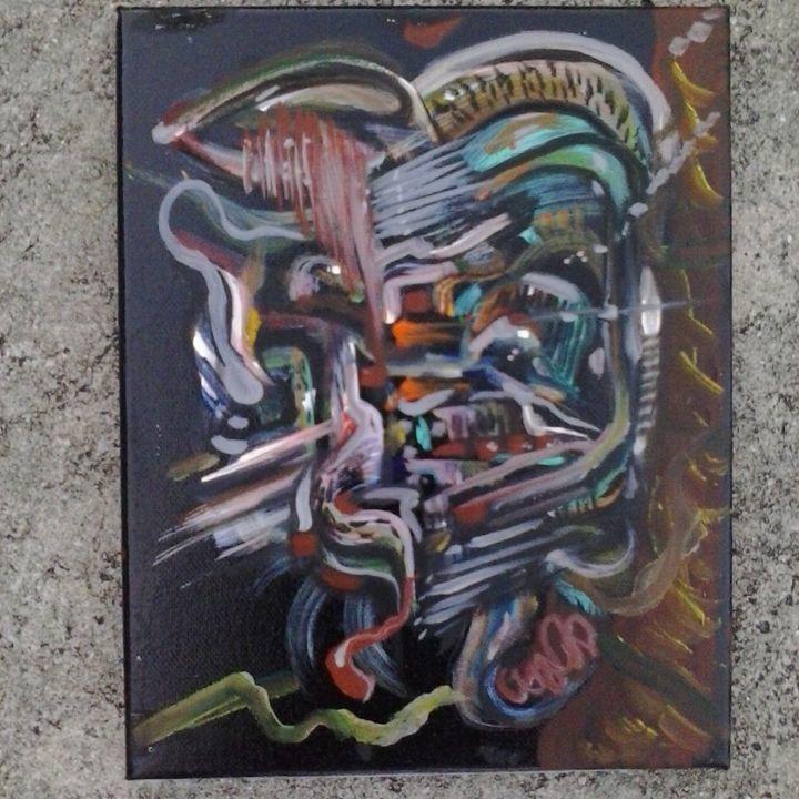 abstract  original on canvas by Niem - ETNART Evan Thomas Niemann