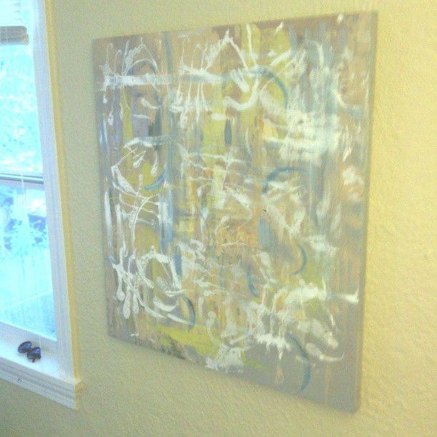 a original Large Abstract painting - ETNART Evan Thomas Niemann