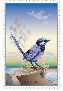 baby wren for c'pletionBlue Fairy Wr - Arty Allsorts