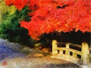 Red Maple in Autumn - Cathleen Cawood