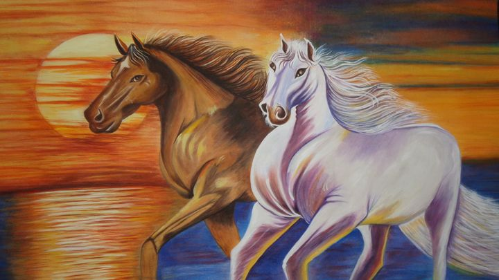 Mustangs - Original  for Sale - neeruart