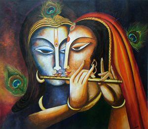 Divine Companions Krishna and Radha