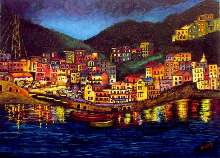 Cinique Terre Impression - Original - neeruart