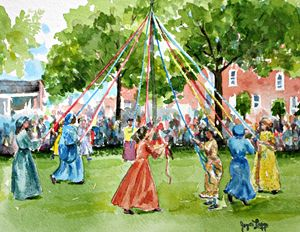 Maypole at Old Dover Days