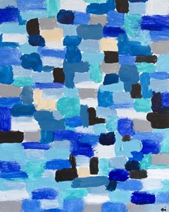 Blue patches