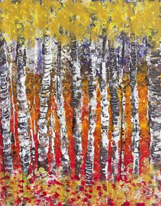 Abstract birches
