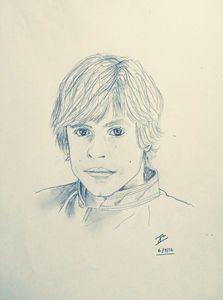 Luke Skywalker drawing