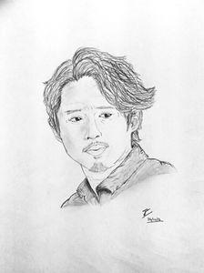 Glenn Rhee drawing