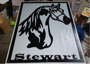Iron Horse Sign