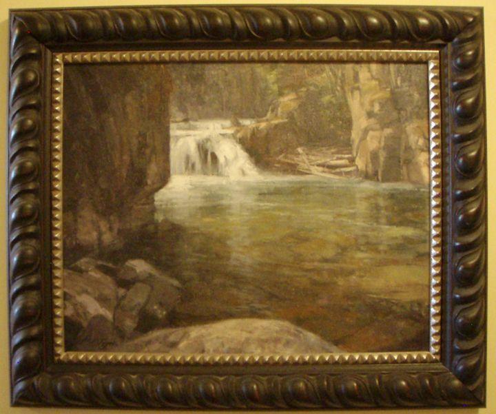 Montana Wilderness Waterfall - Montana Wildlife Art