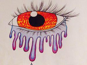 Dripping Flaming Eye