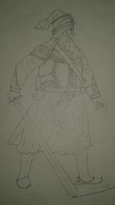 Sketch of baba deep singh ji