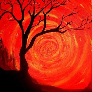 Orange spiral