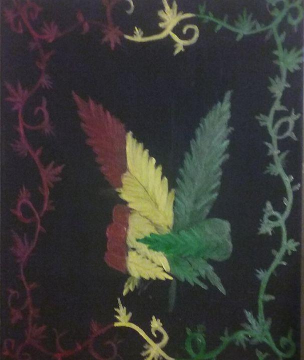 Rasta pot leaf peace sign - Joe Snyder