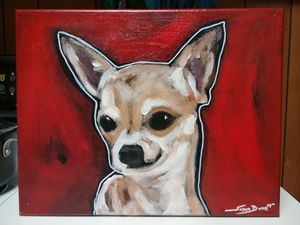 Chihuahua Dog Painting acrylic