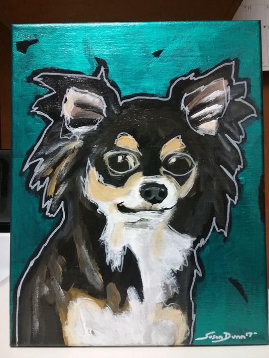 Chihuahua Dog Painting acrylic - Susan Dunn