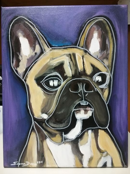 French Bulldog Painting Acrylic - Susan Dunn