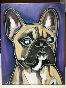 French Bulldog Painting Acrylic