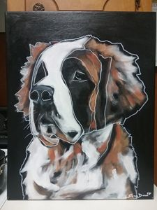 Abstract St. Bernard Painting