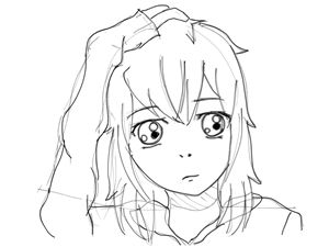Unfinished/outline of Anime Girl