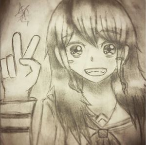 Peace-sign Girl Pencil