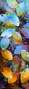 Feuilles multicolores