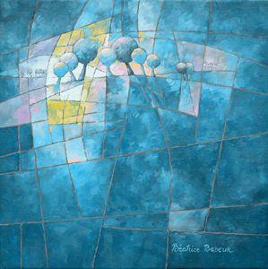 Clear blue figurative 088