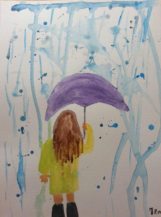 Enjoying the Downpour - MillsArtistry