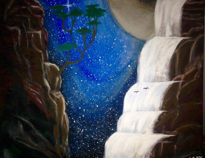 Heavens Waterfall - The Angels Paintings
