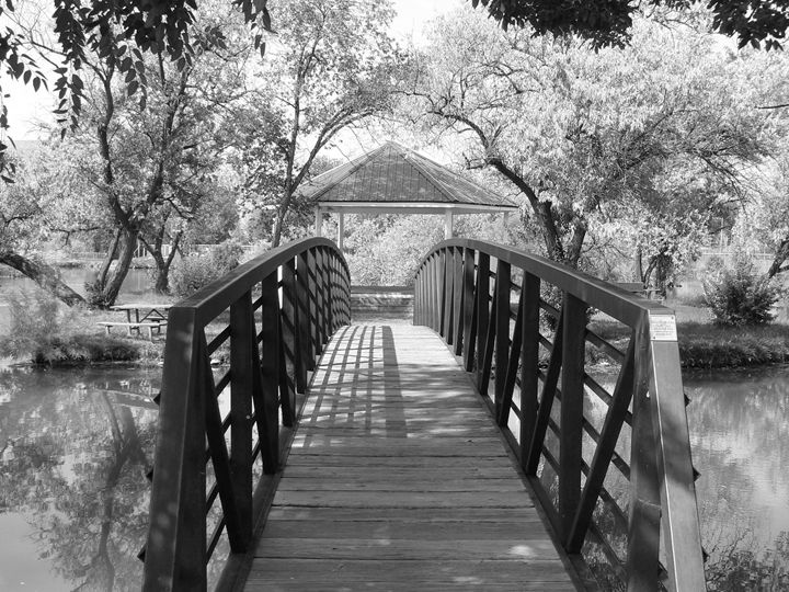 Bridge to gazebo - Blue Blue Sky Creations