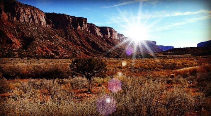 Sunlight over the Mesa - Blue Blue Sky Creations