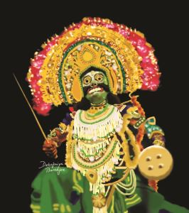 Painting of Chhau Dancer