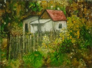 a house in autumn