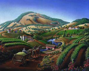 Wine Country Vineyard Landscape - Walt Curlee Fine Art & Prints