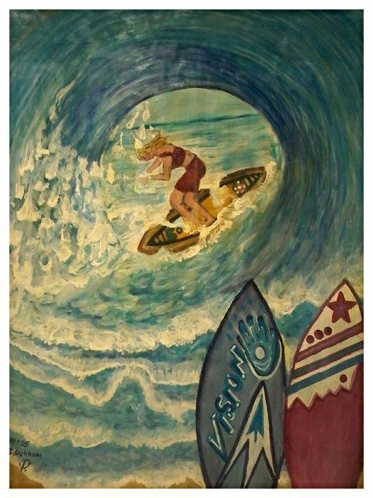 Les grandes vagues - Artds DS Souad Dehhani
