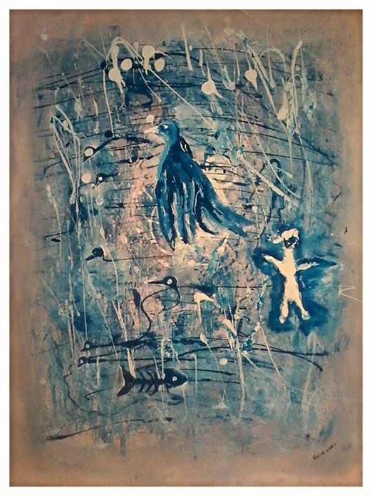 l'oiseau abstrait - Artds DS Souad Dehhani