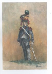 French Line Infantry Officer 1813