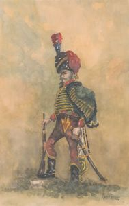 French Hussar 7th Regiment 1815