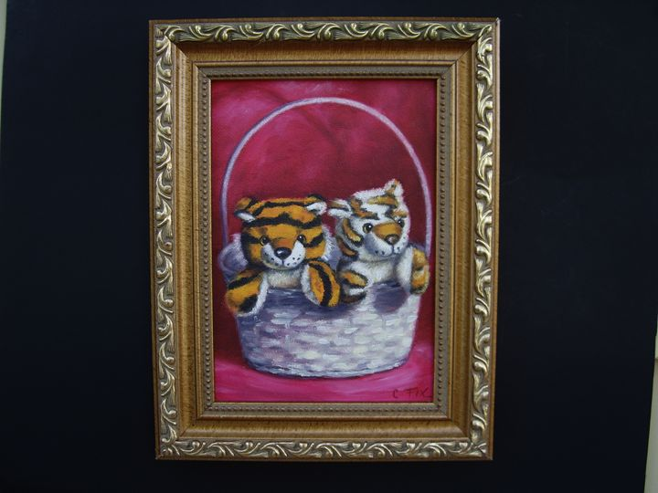 Tigers in a basket - claire fix fine art