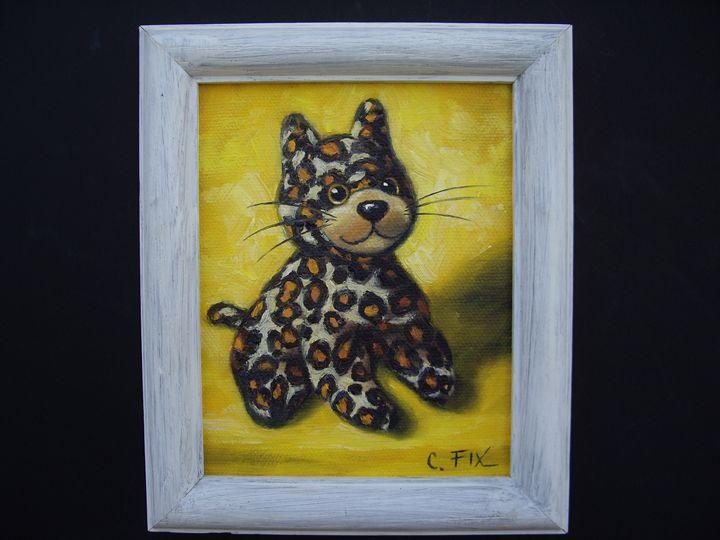 leopard stuffed toy - claire fix fine art