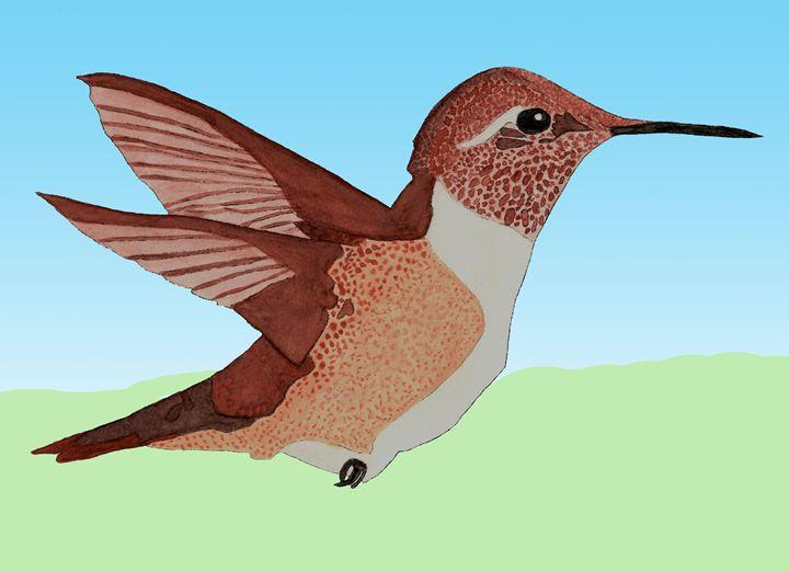Hummingbird Watercolor - LJM Memories