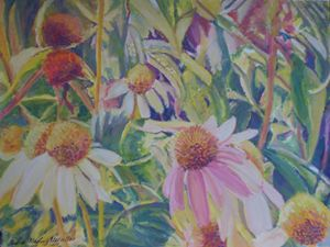 Sunny Cone Flowers - Andrea Maglio-Macullar