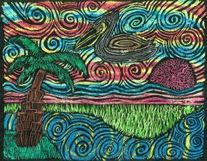 Pelican Sunset - Miranda's Veranda